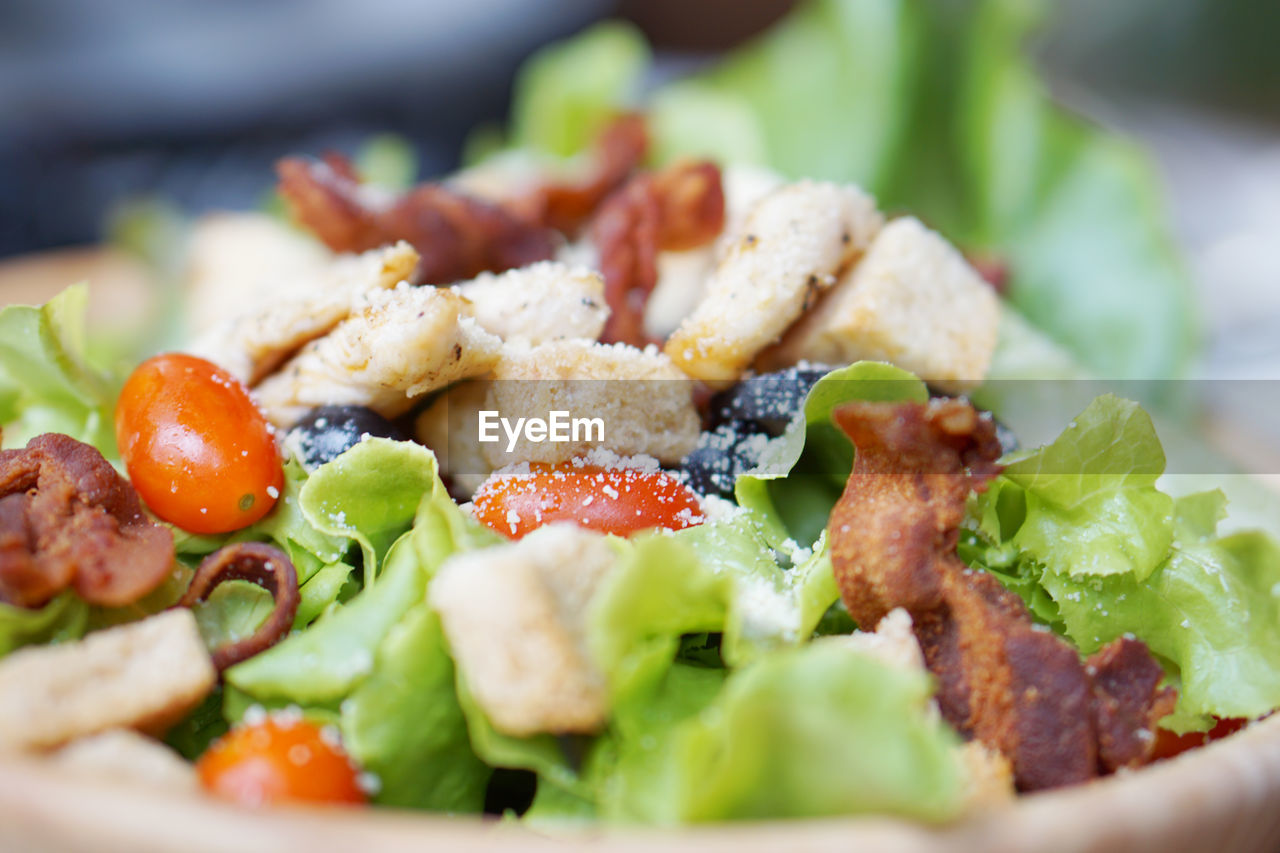 food, vegetable, food and drink, healthy eating, ready-to-eat, selective focus, wellbeing, freshness, salad, close-up, still life, no people, serving size, tomato, fruit, meat, lettuce, indoors, plate, meal, vegetarian food, snack, greek food, crockery