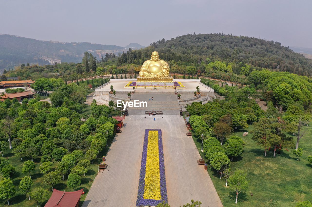 PANORAMIC VIEW OF A TEMPLE