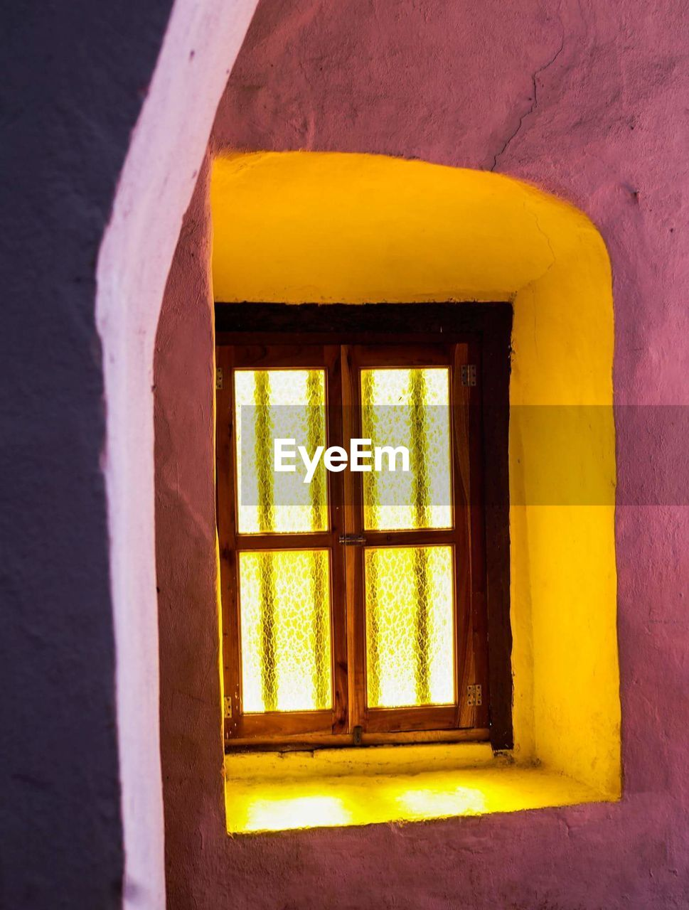window, architecture, indoors, yellow, no people, built structure, day, close-up