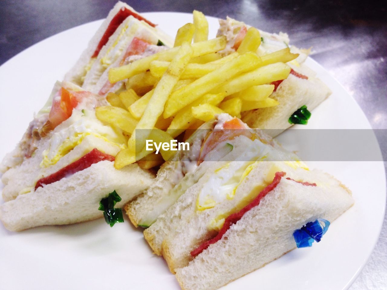 Close-Up Of Sandwiches In Plate