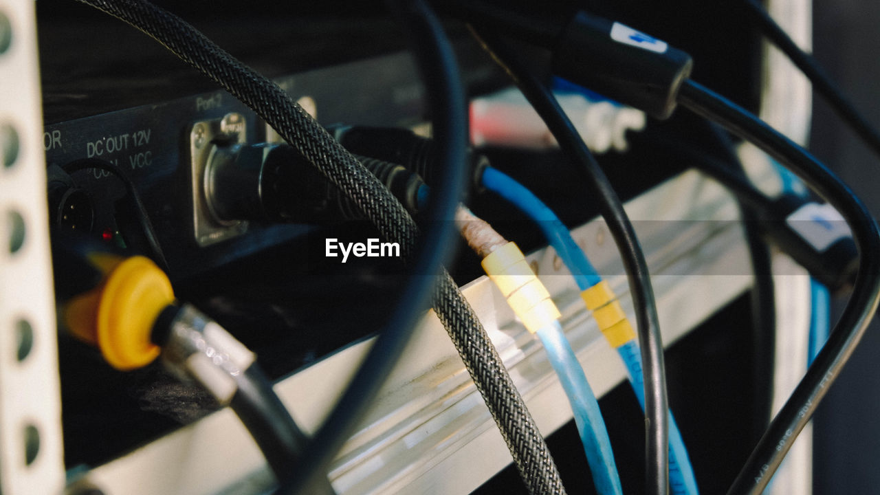 Close-Up Of Computer Cable
