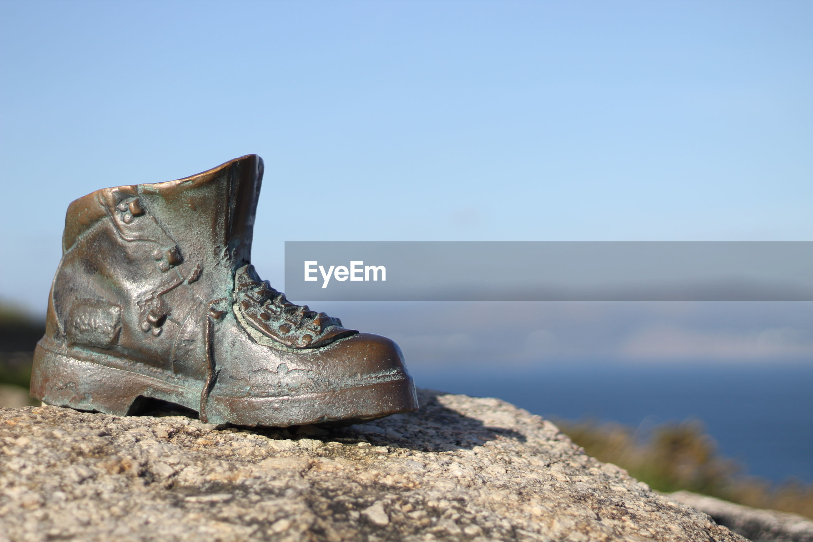 Close-up of shoe sculpture