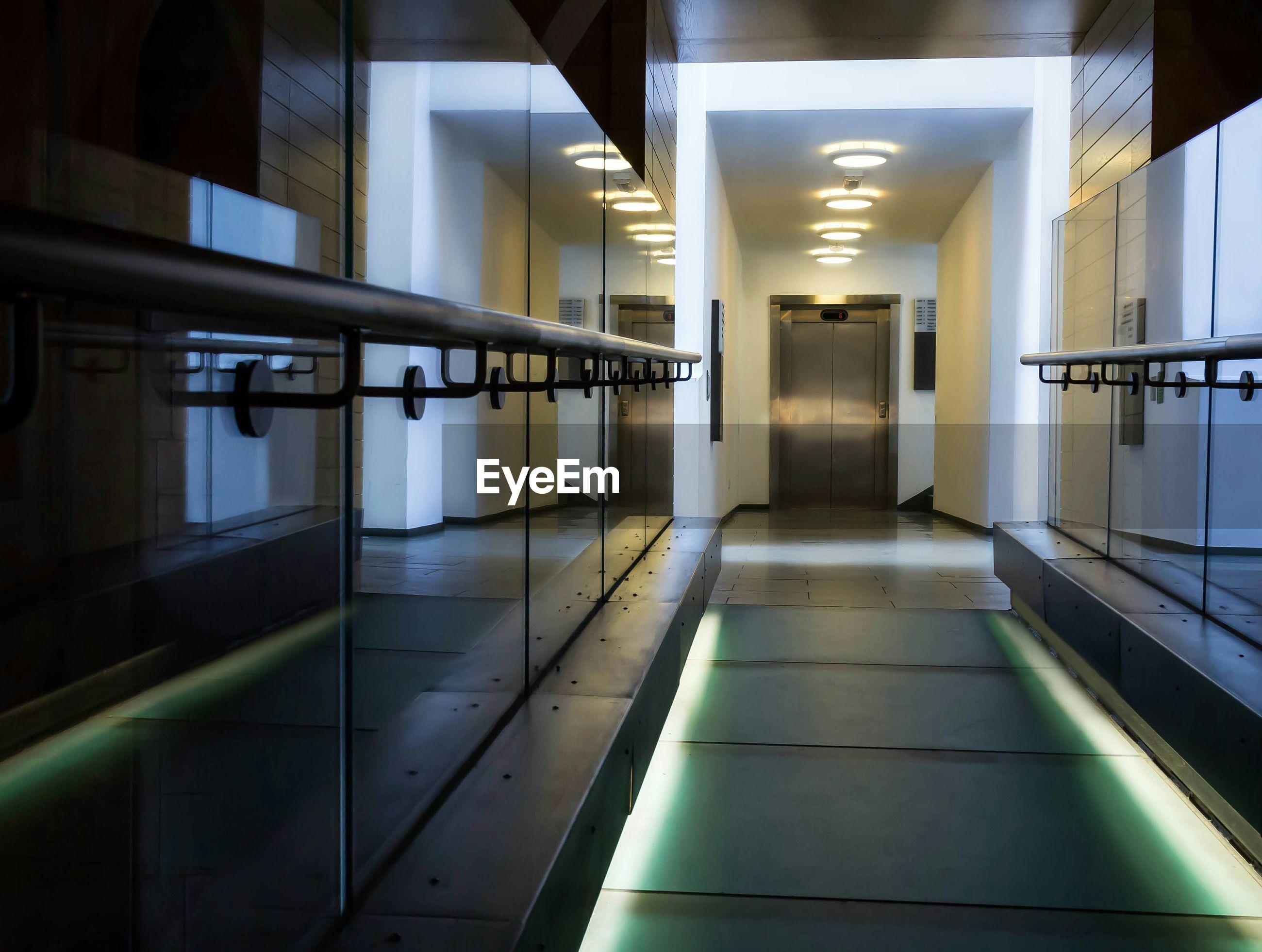 Illuminated passage in building