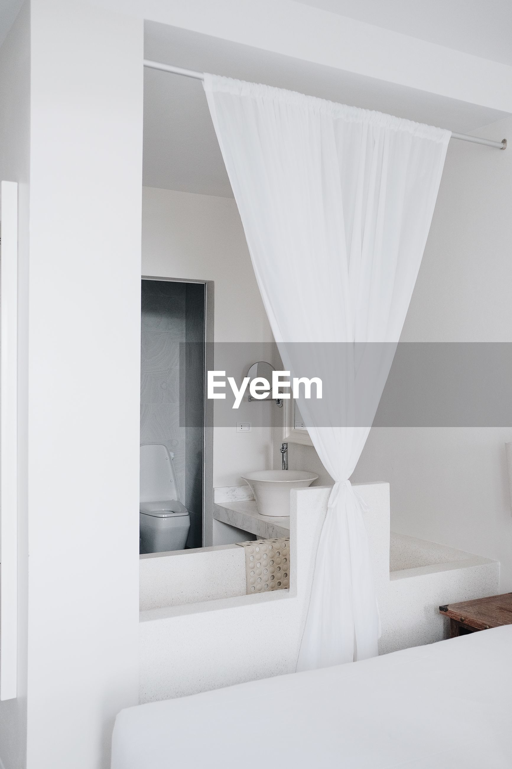 WHITE CURTAIN IN HOME