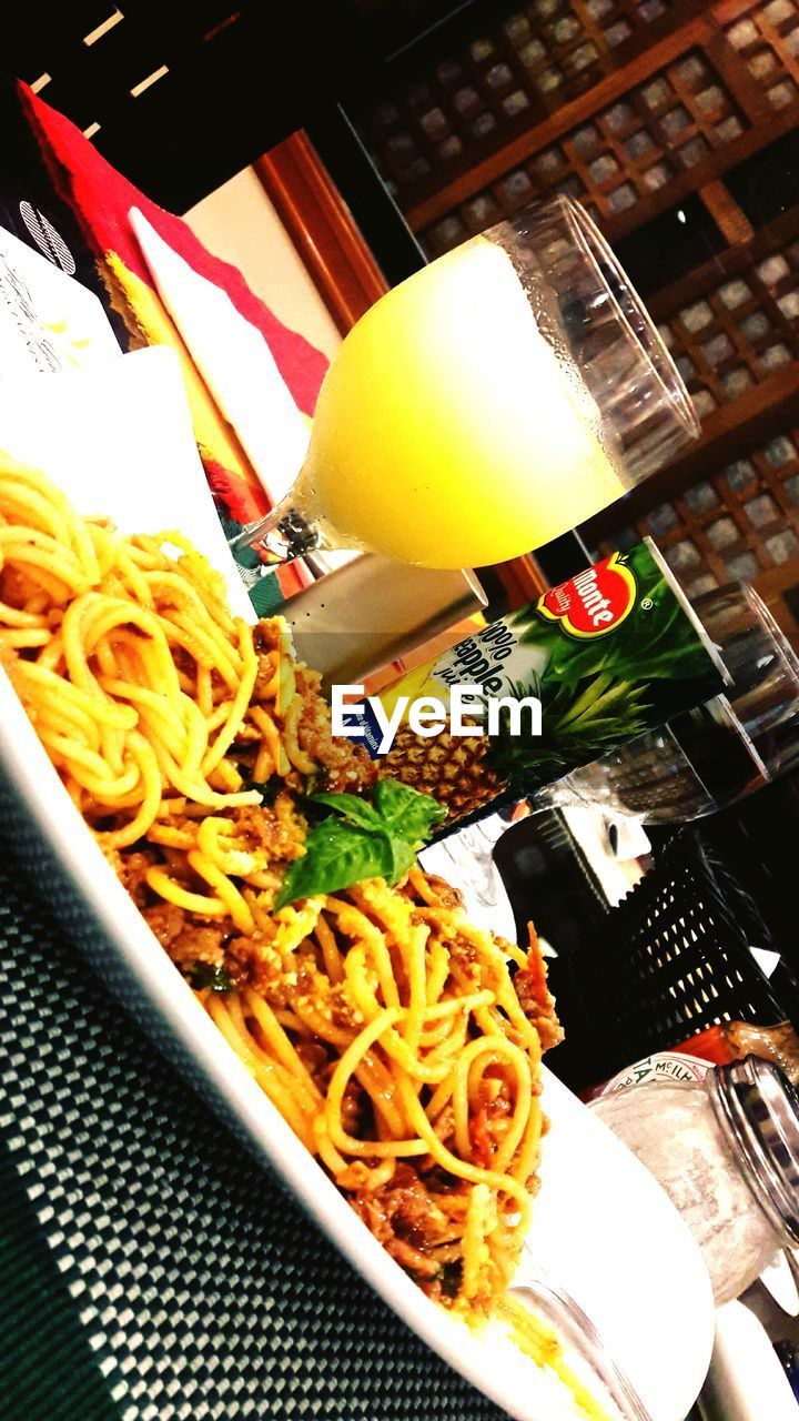 food and drink, food, freshness, indoors, noodles, ready-to-eat, healthy eating, no people, table, indulgence, serving size, drink, close-up, plate, alcohol, meal, day