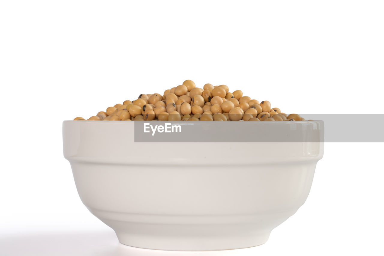 white background, studio shot, food and drink, food, close-up, indoors, still life, freshness, cut out, copy space, wellbeing, healthy eating, white color, no people, large group of objects, bowl, nut, container, abundance, heap, snack