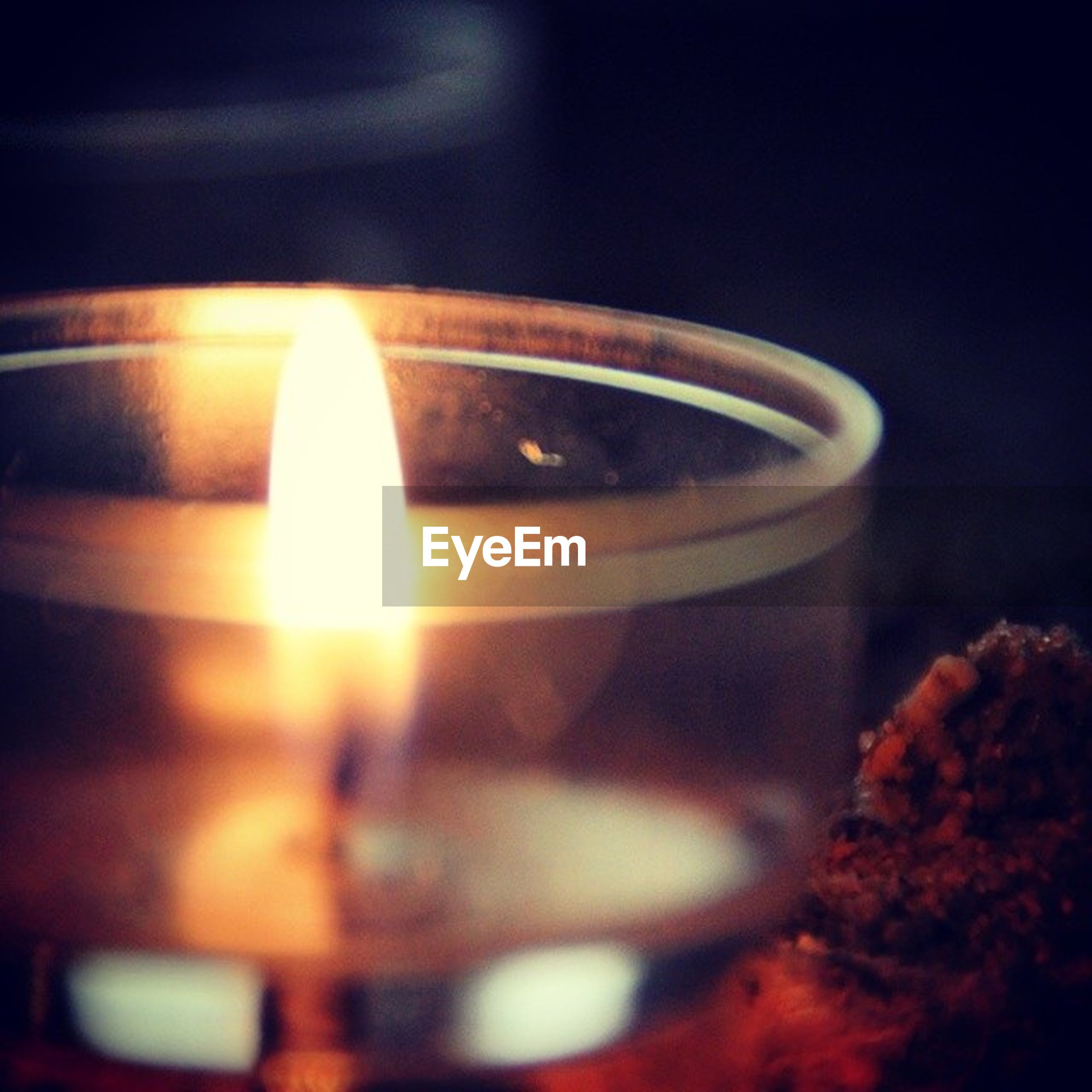 flame, burning, candle, glowing, close-up, illuminated, heat - temperature, fire - natural phenomenon, focus on foreground, selective focus, indoors, lit, night, fire, light - natural phenomenon, lens flare, dark, no people, glass - material, reflection