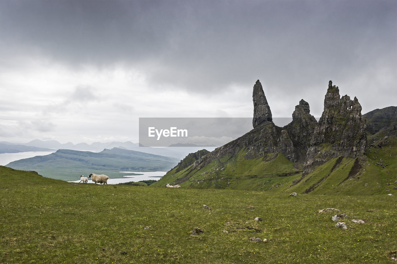 Scenic View Of The Storr Against Sky