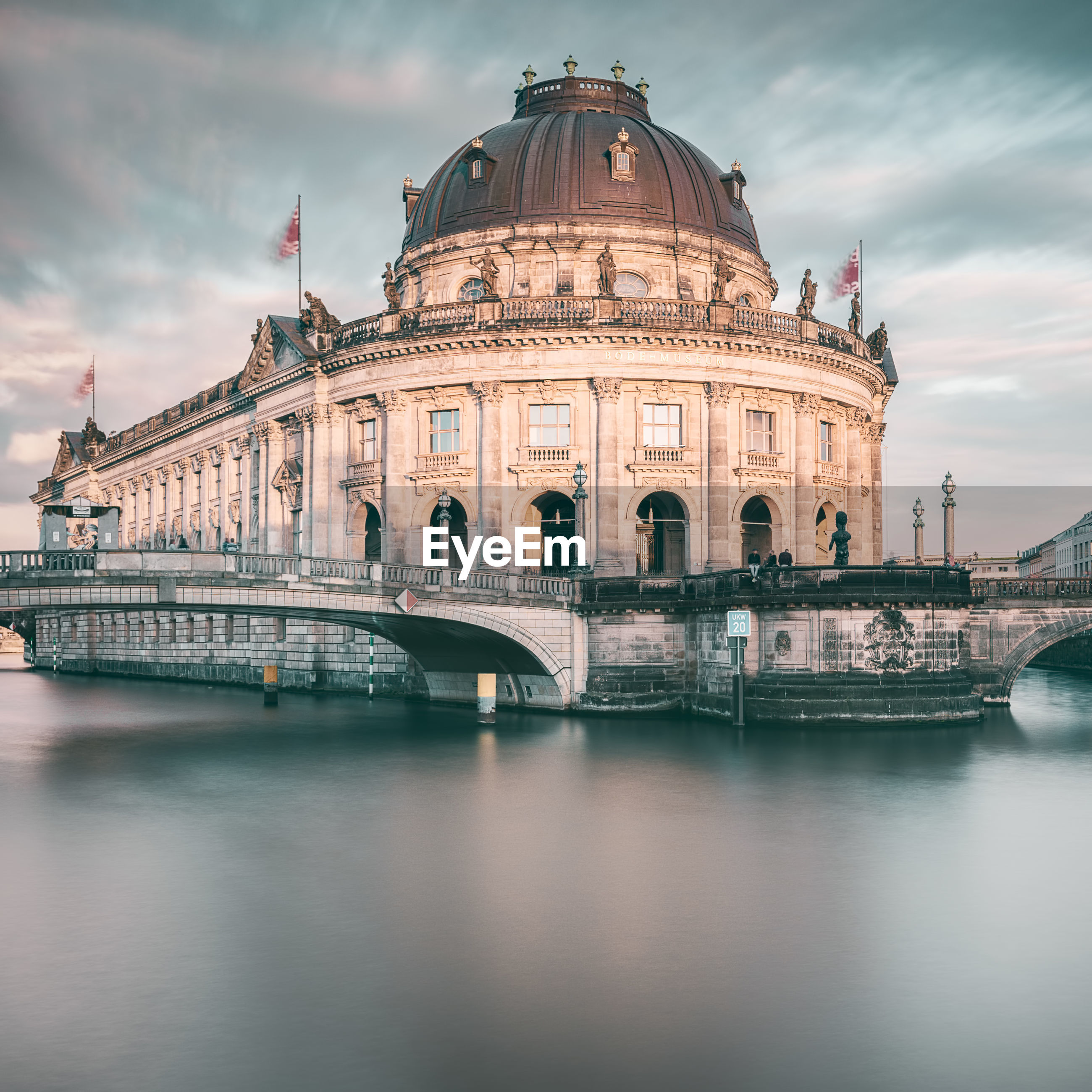 Spree river against bode-museum