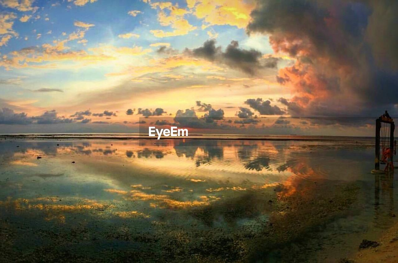 reflection, nature, beauty in nature, scenics, tranquil scene, sunset, tranquility, water, cloud - sky, sky, outdoors, no people, day