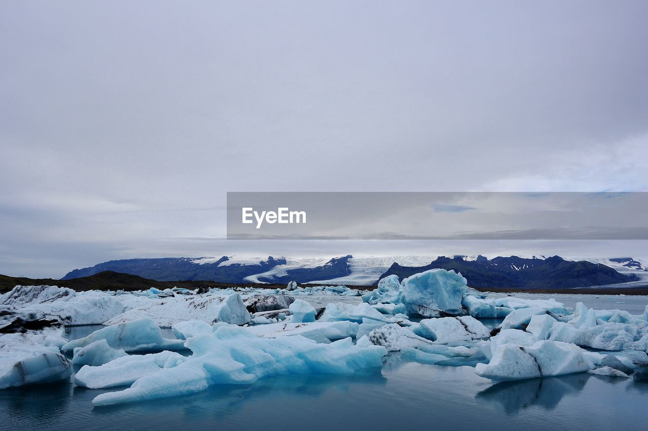 View Of Icebergs Floating On Water