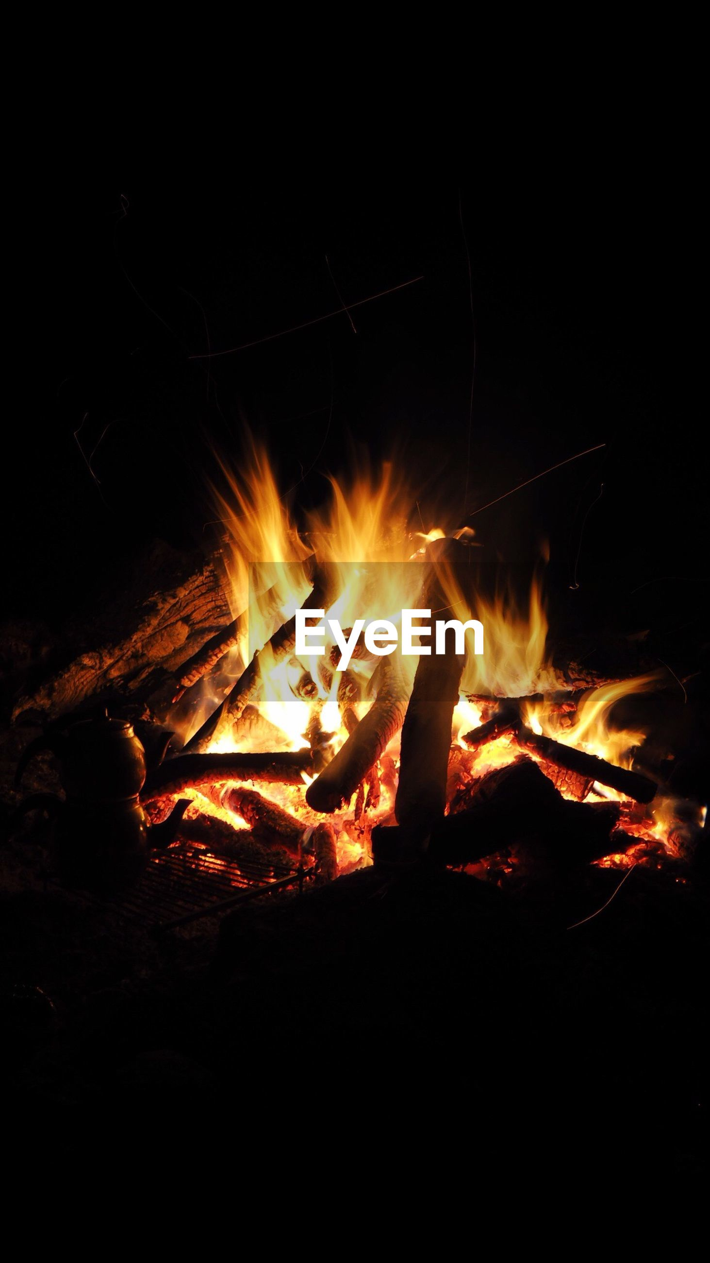 flame, burning, night, heat - temperature, no people, wood - material, bonfire, outdoors, close-up