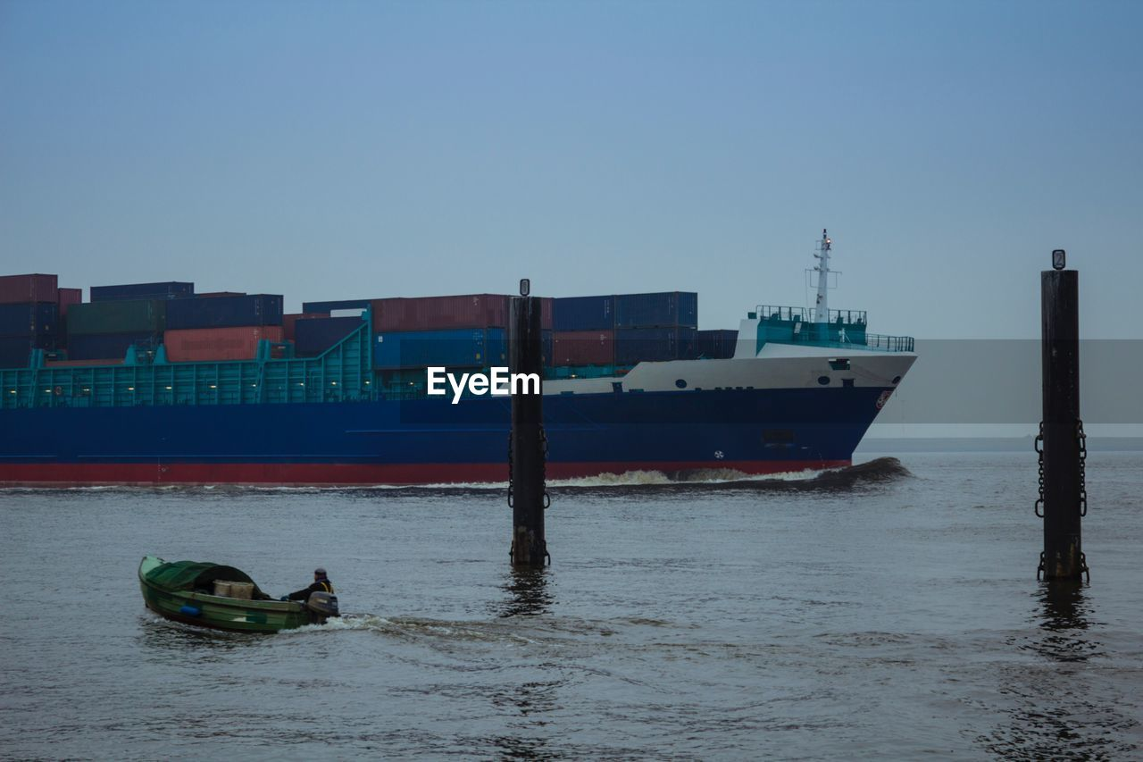 Container Ship Reaching Dock
