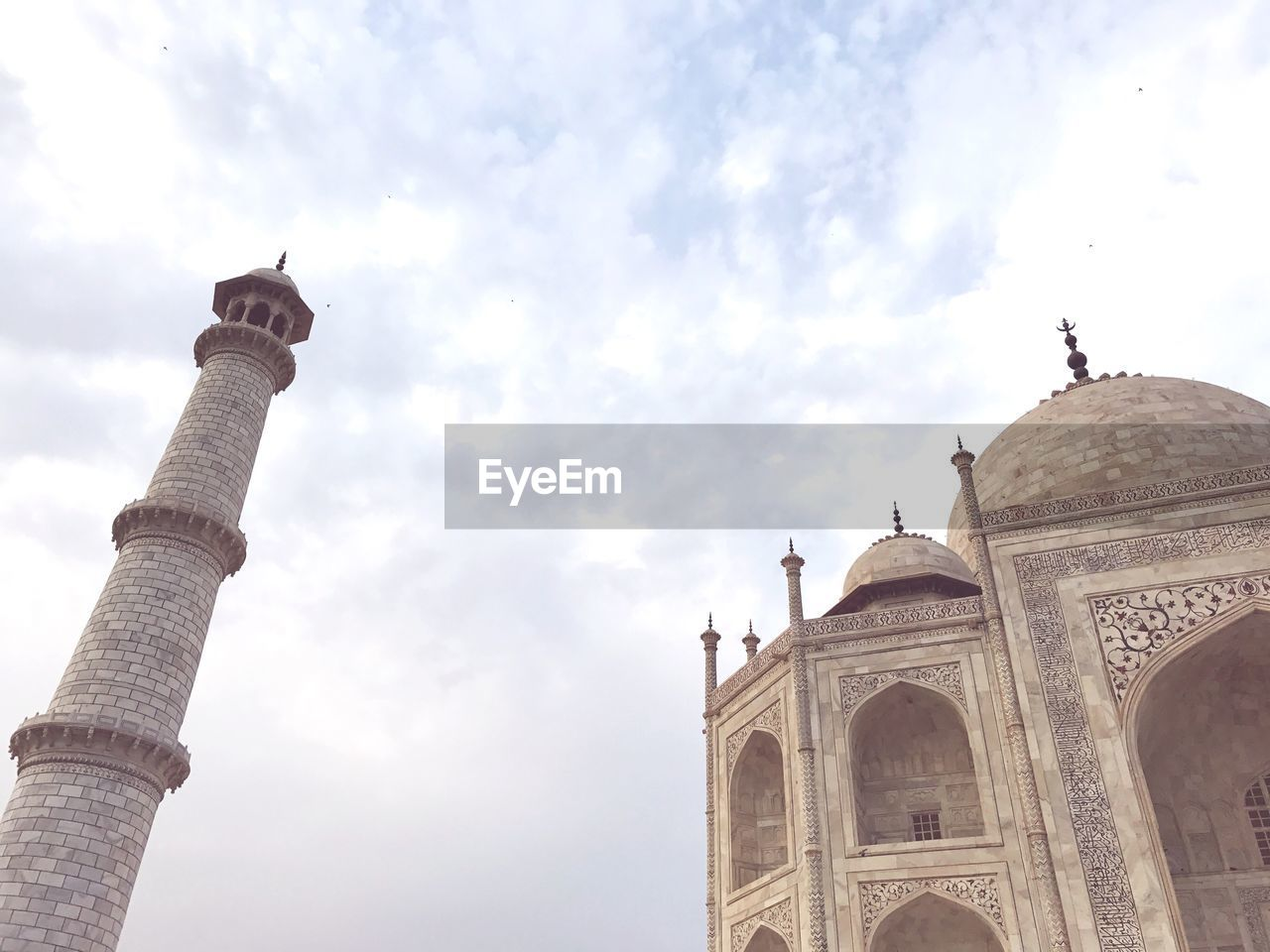 Low Angle View Of Taj Mahal Against Sky