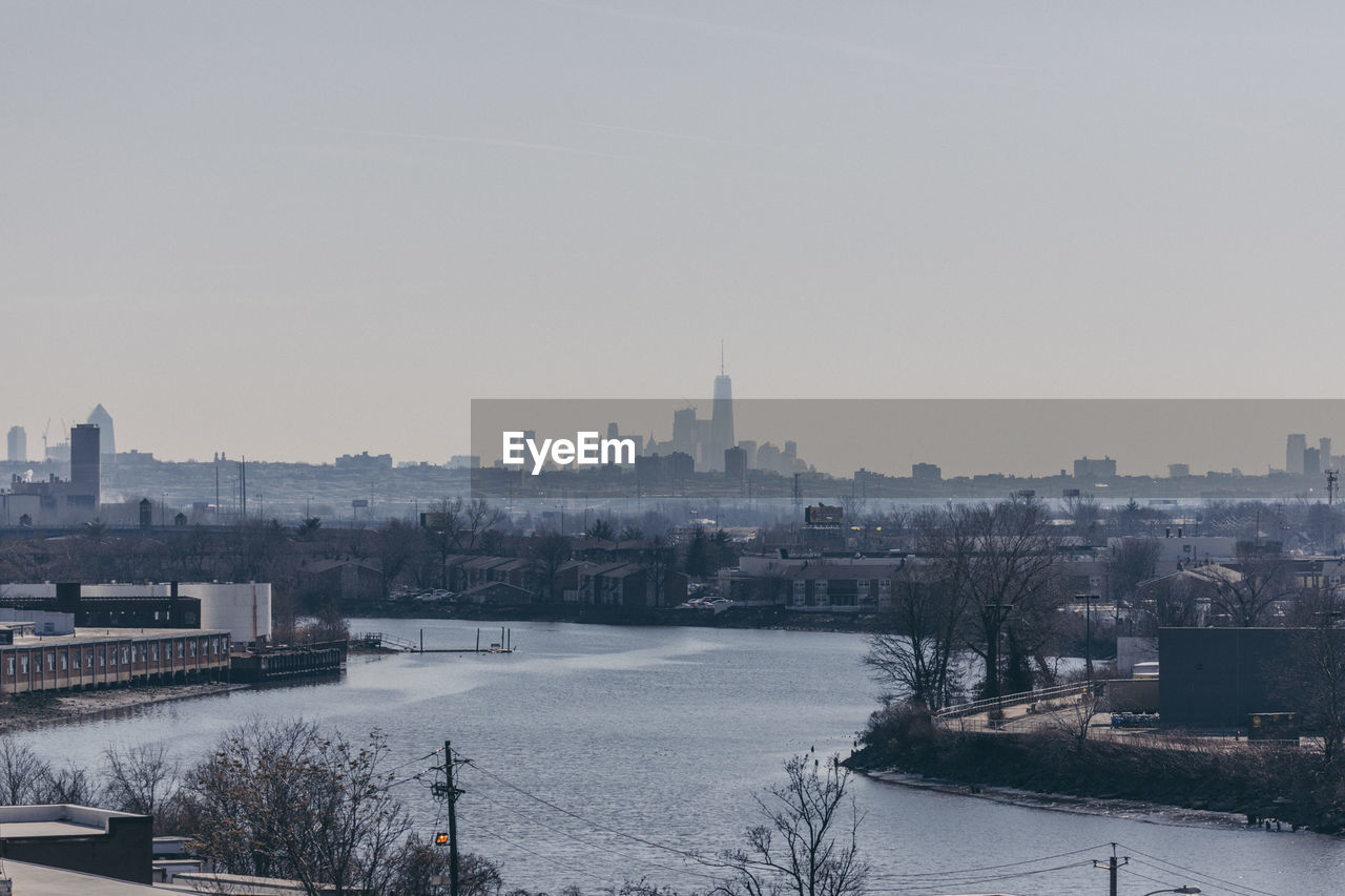 View Of Town In Winter