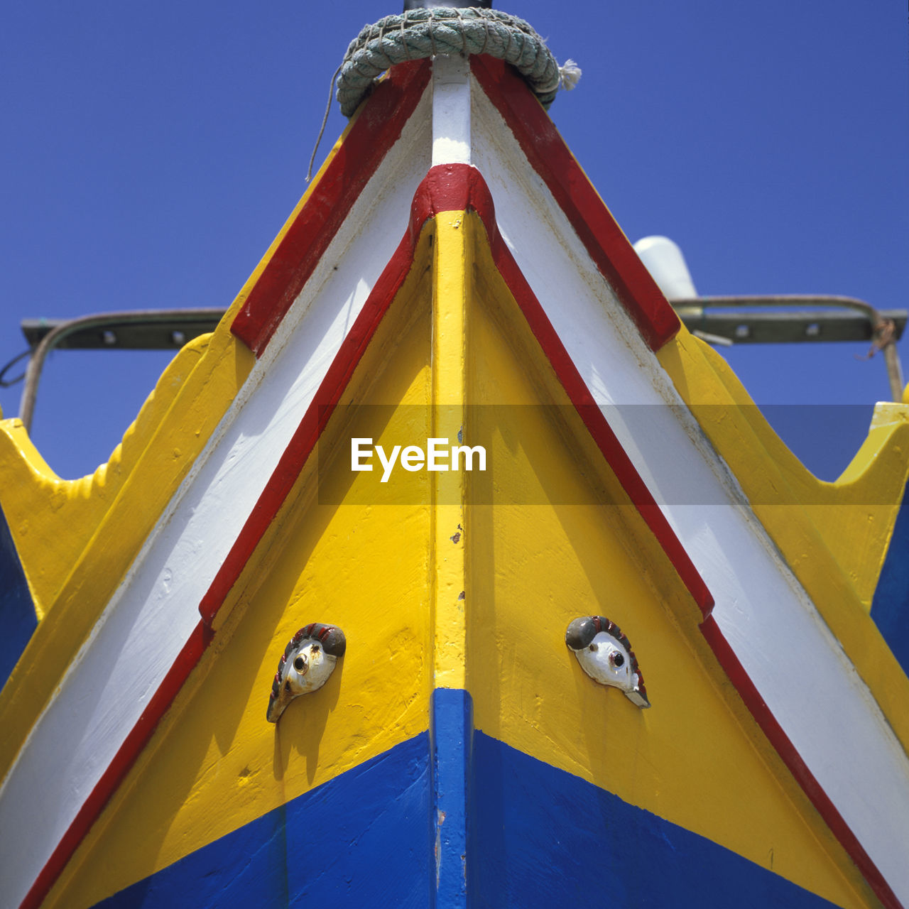 Cropped Image Of Boat Against Clear Sky