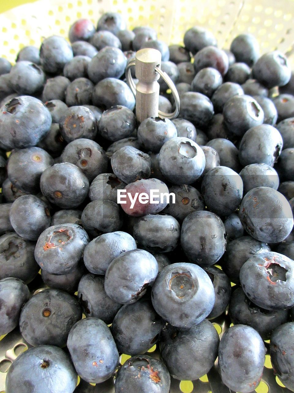 Close-Up Of Blueberries In Plate