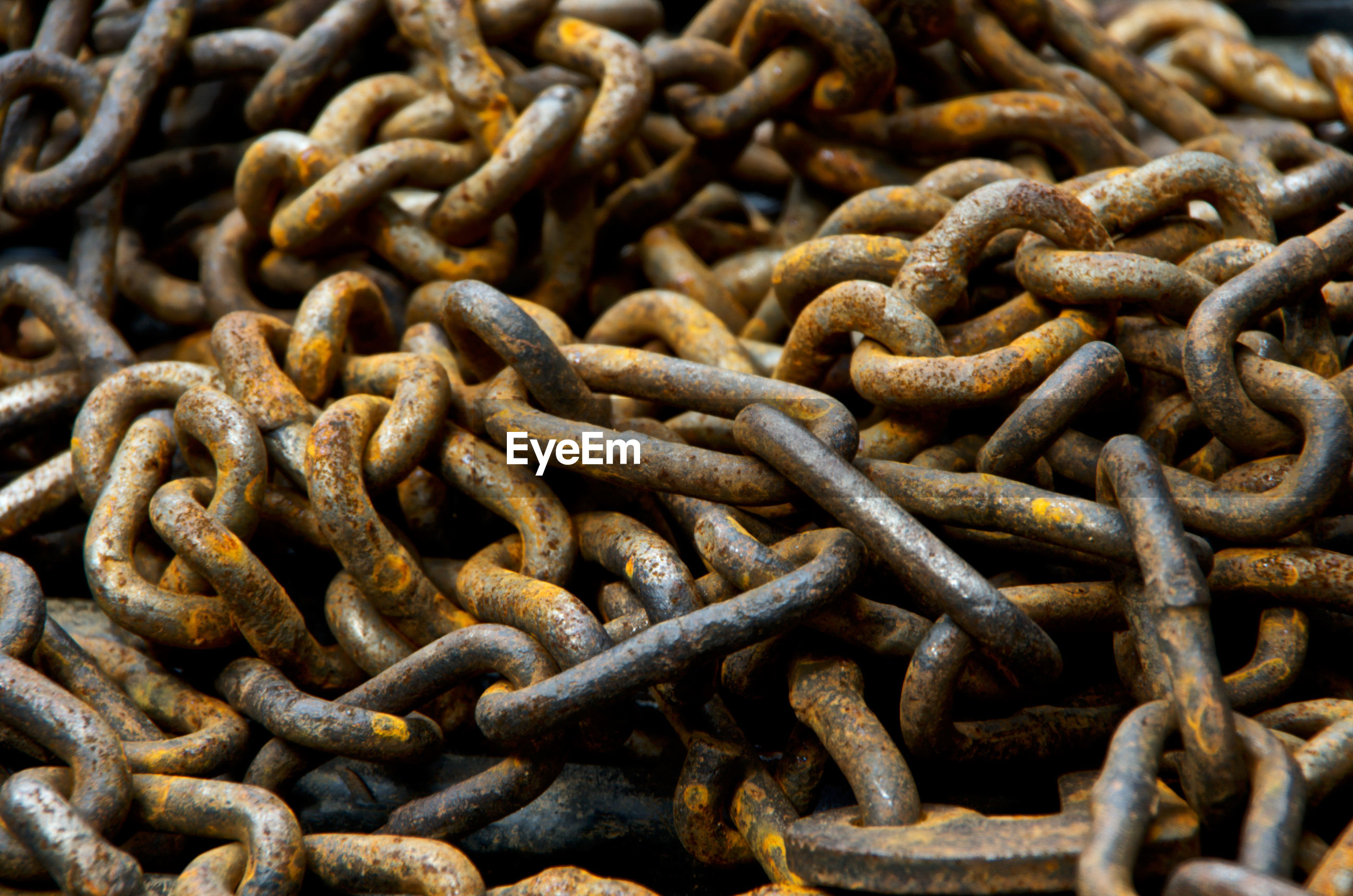 Full frame shot of rusty chains