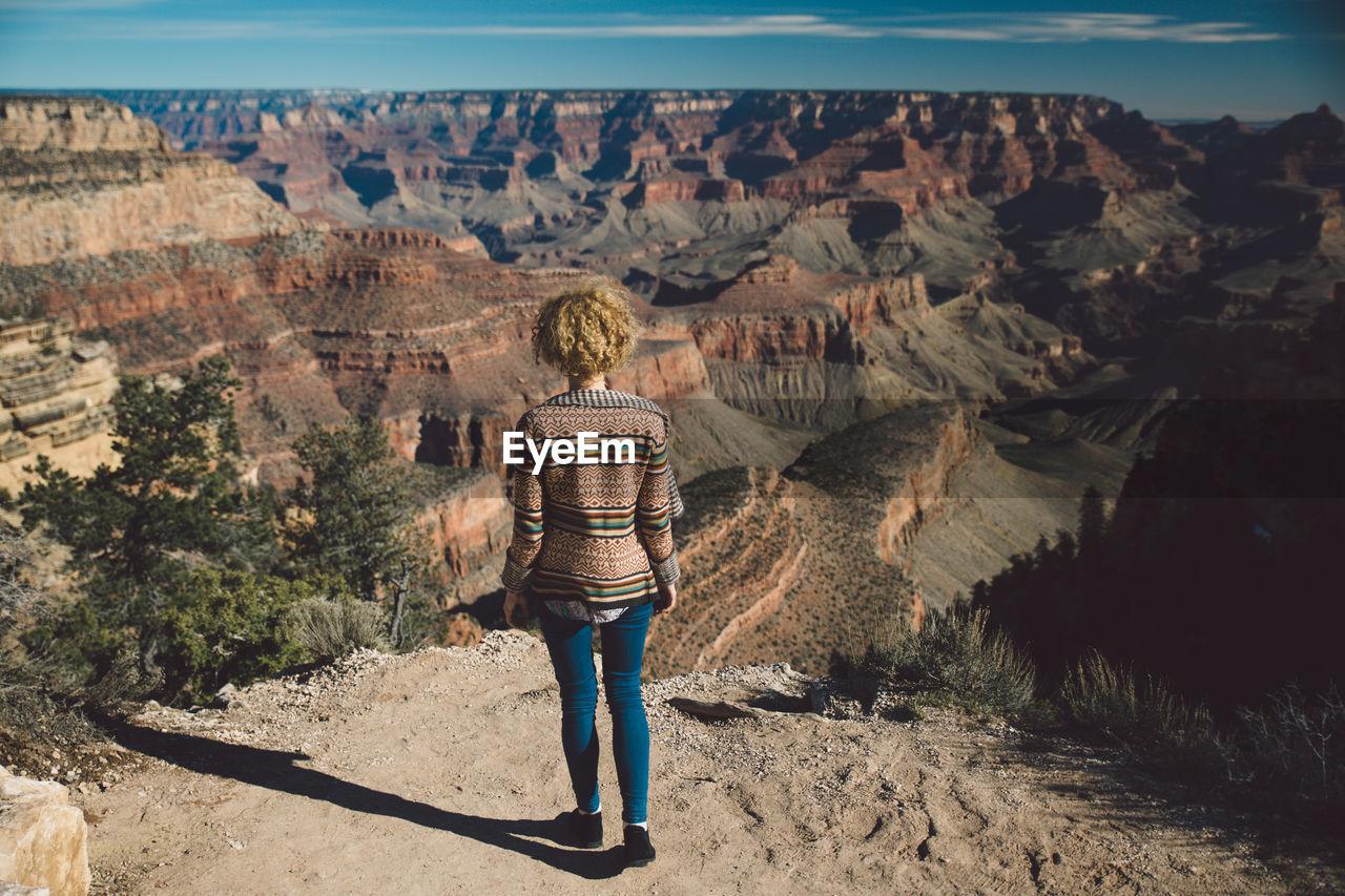Rear View Of Woman At Grand Canyon