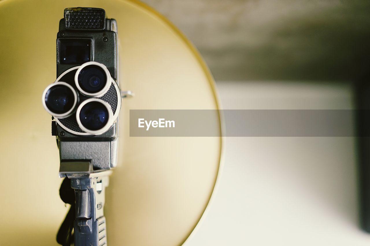 Close-Up View Of Film Camera