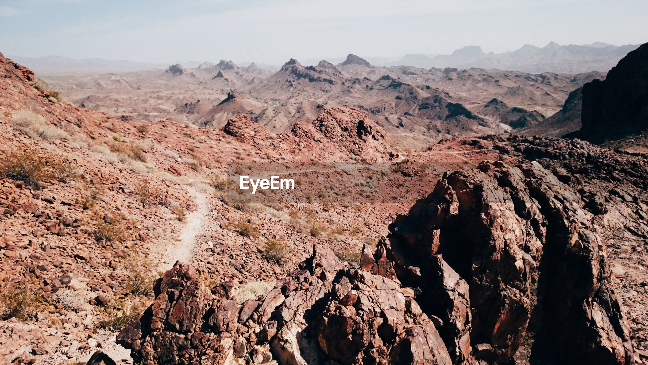 Scenic view of rocky landscape
