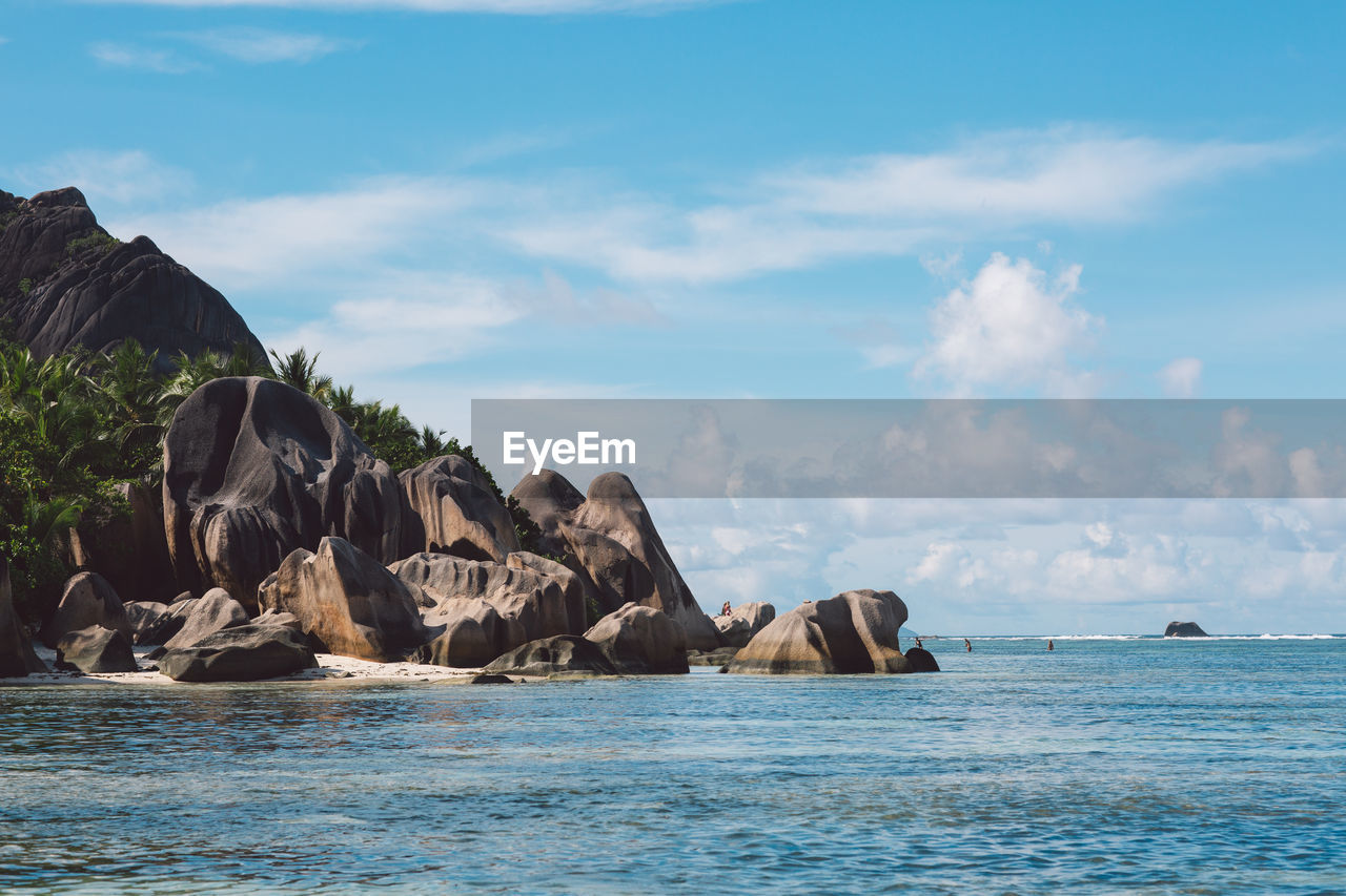 sea, sky, water, beauty in nature, scenics - nature, tranquil scene, cloud - sky, waterfront, rock, nature, tranquility, no people, day, rock - object, non-urban scene, land, horizon over water, solid, horizon, outdoors, marine