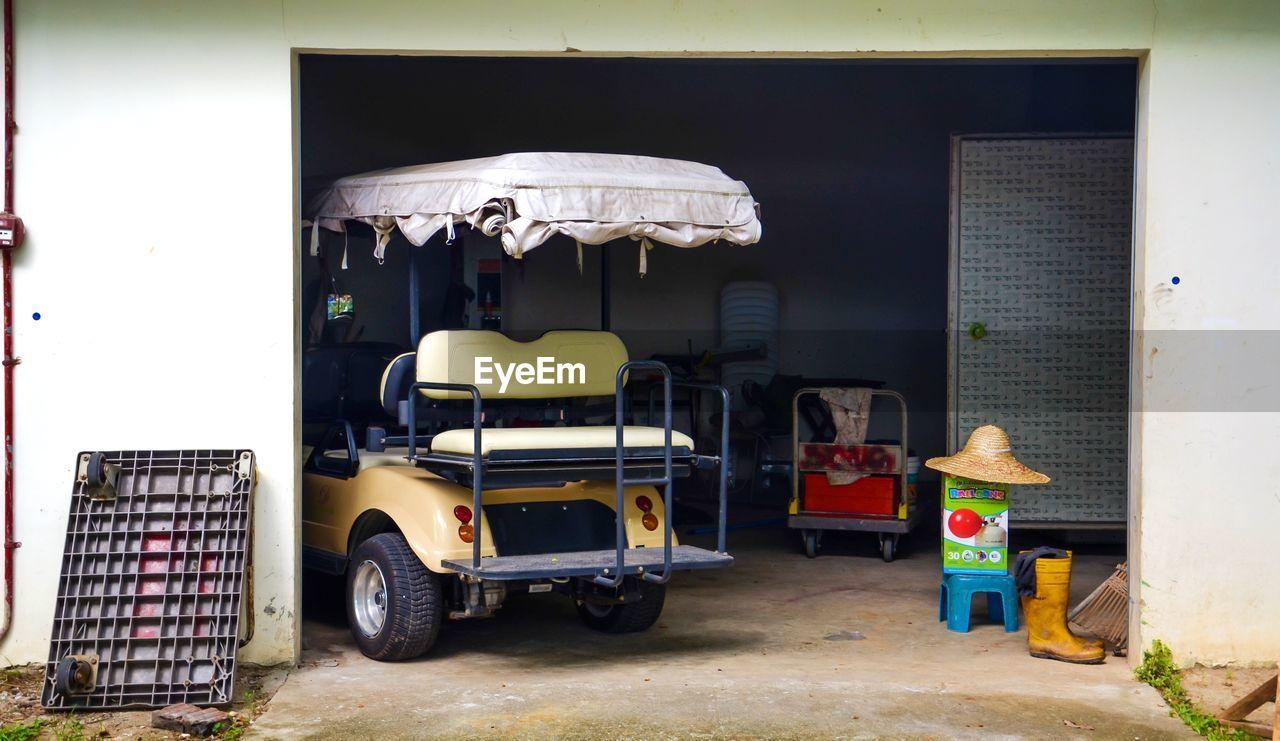Vehicle In Parking Garage