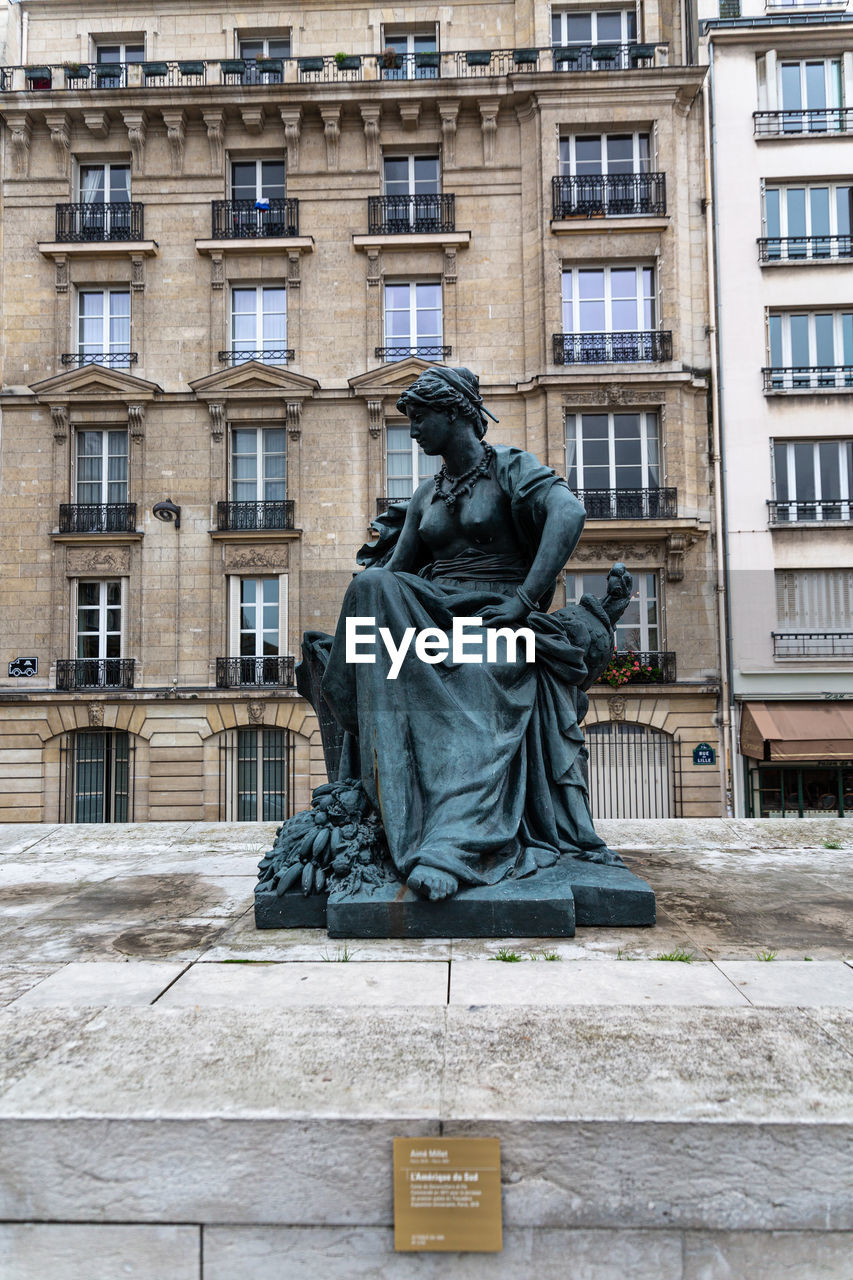 STATUE AGAINST SKY IN CITY