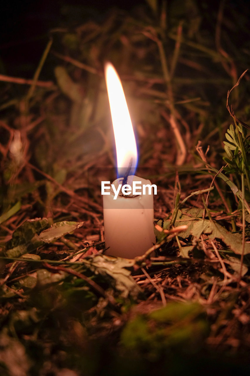 flame, burning, glowing, candle, heat - temperature, night, close-up, illuminated, no people, outdoors