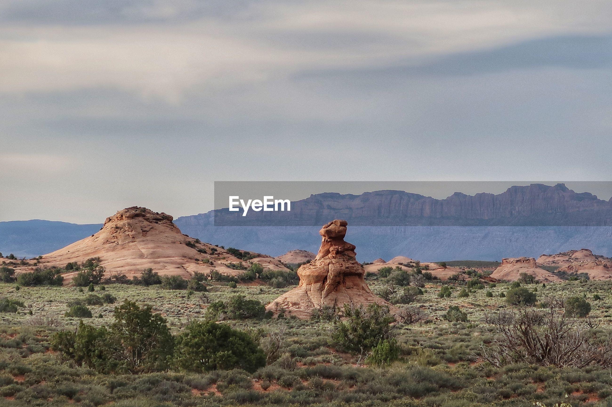 Landscape of sandstone formations in utah