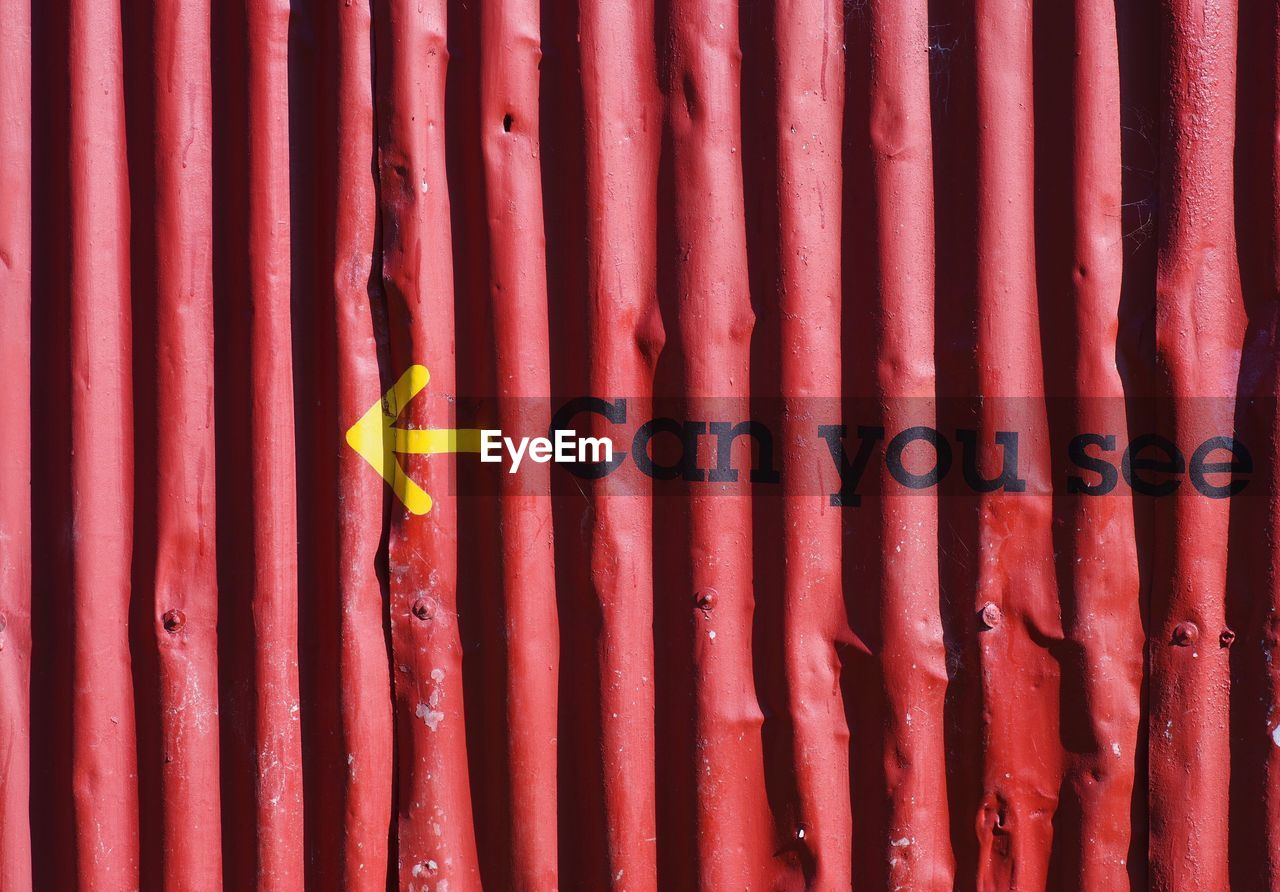 Full Frame Shot Of Red Metal Structure