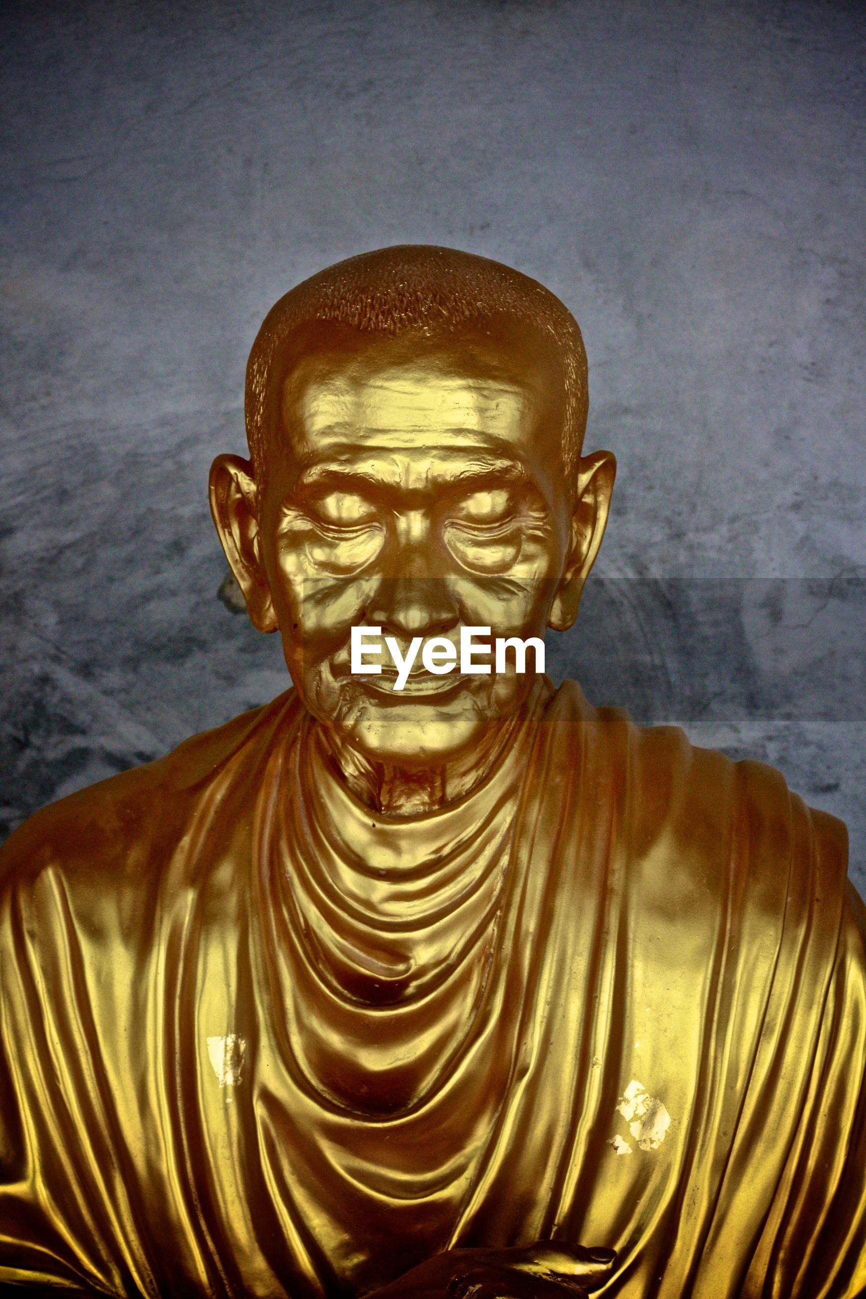 Golden buddha sculpture