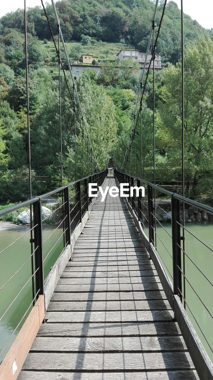 the way forward, connection, direction, bridge, tree, built structure, plant, day, diminishing perspective, nature, architecture, footbridge, bridge - man made structure, railing, no people, forest, rope bridge, land, outdoors, transportation