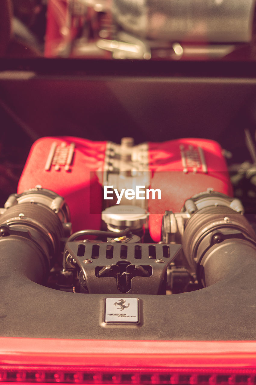 close-up, indoors, technology, red, no people, still life, retro styled, control, metal, photography themes, number, equipment, communication, text, camera, selective focus, camera - photographic equipment, security, machinery