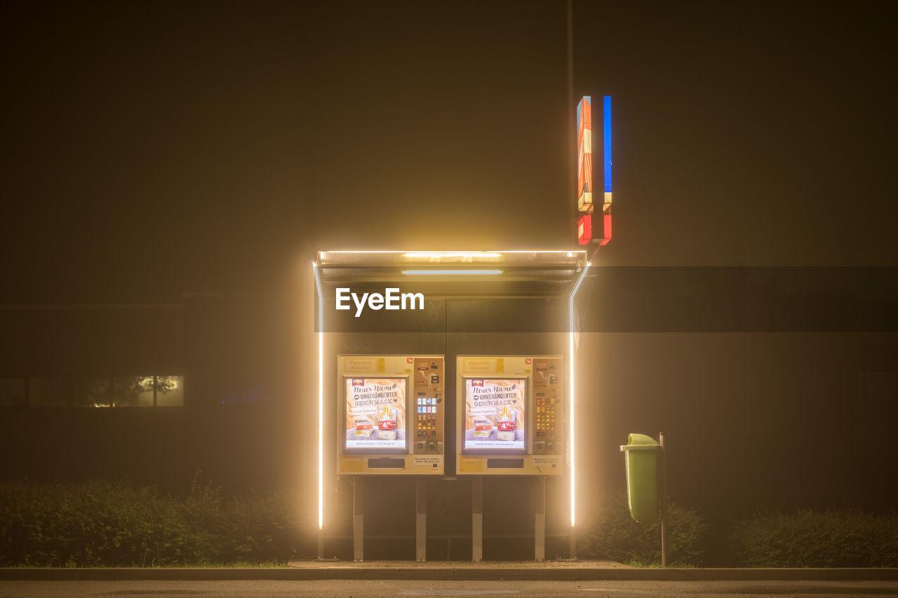View Of Illuminated Lights On Road