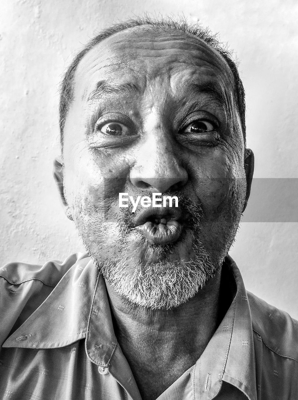 Close-up portrait of a funny man