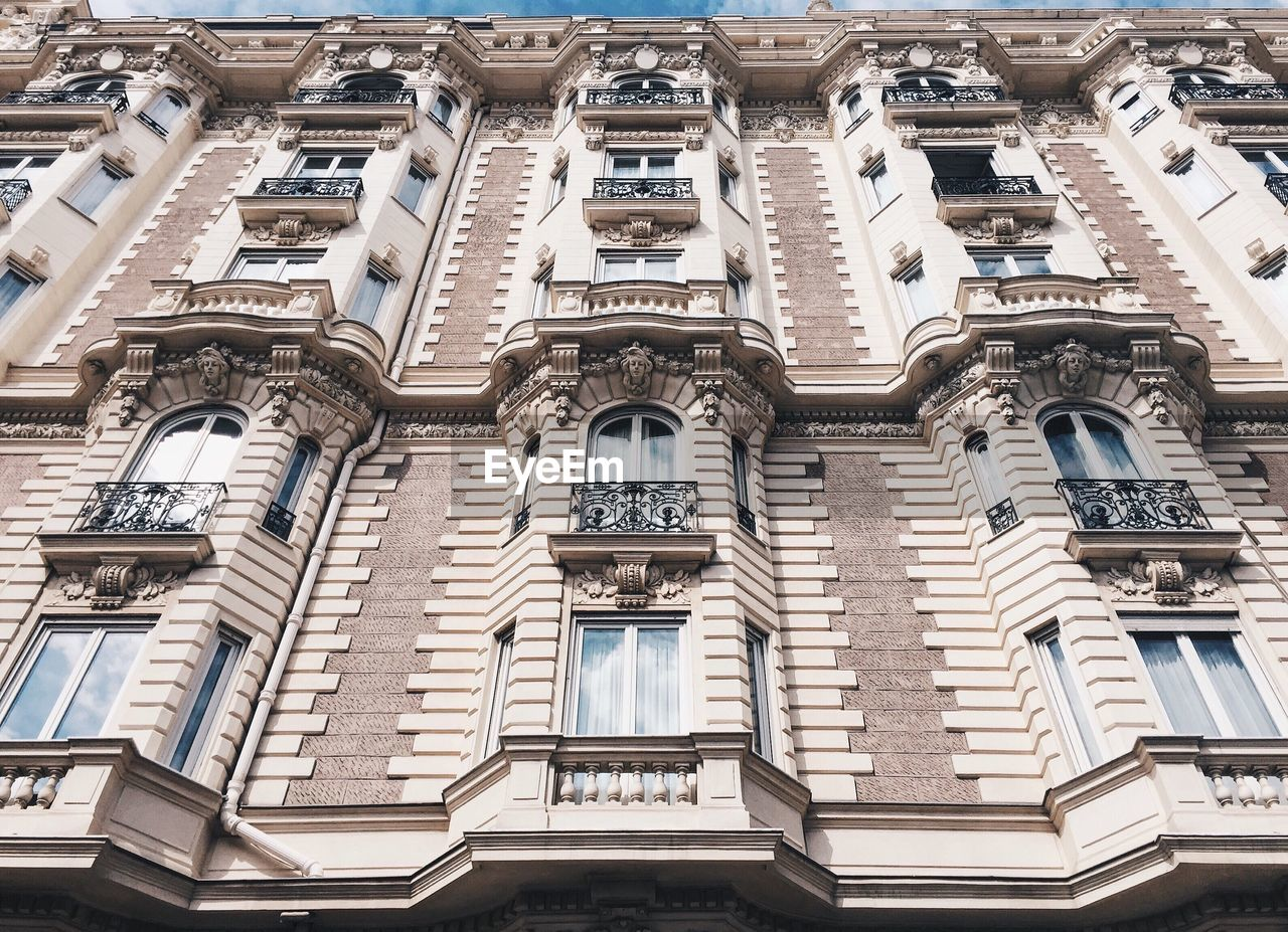Low Angle View Of An Old French Residential Building