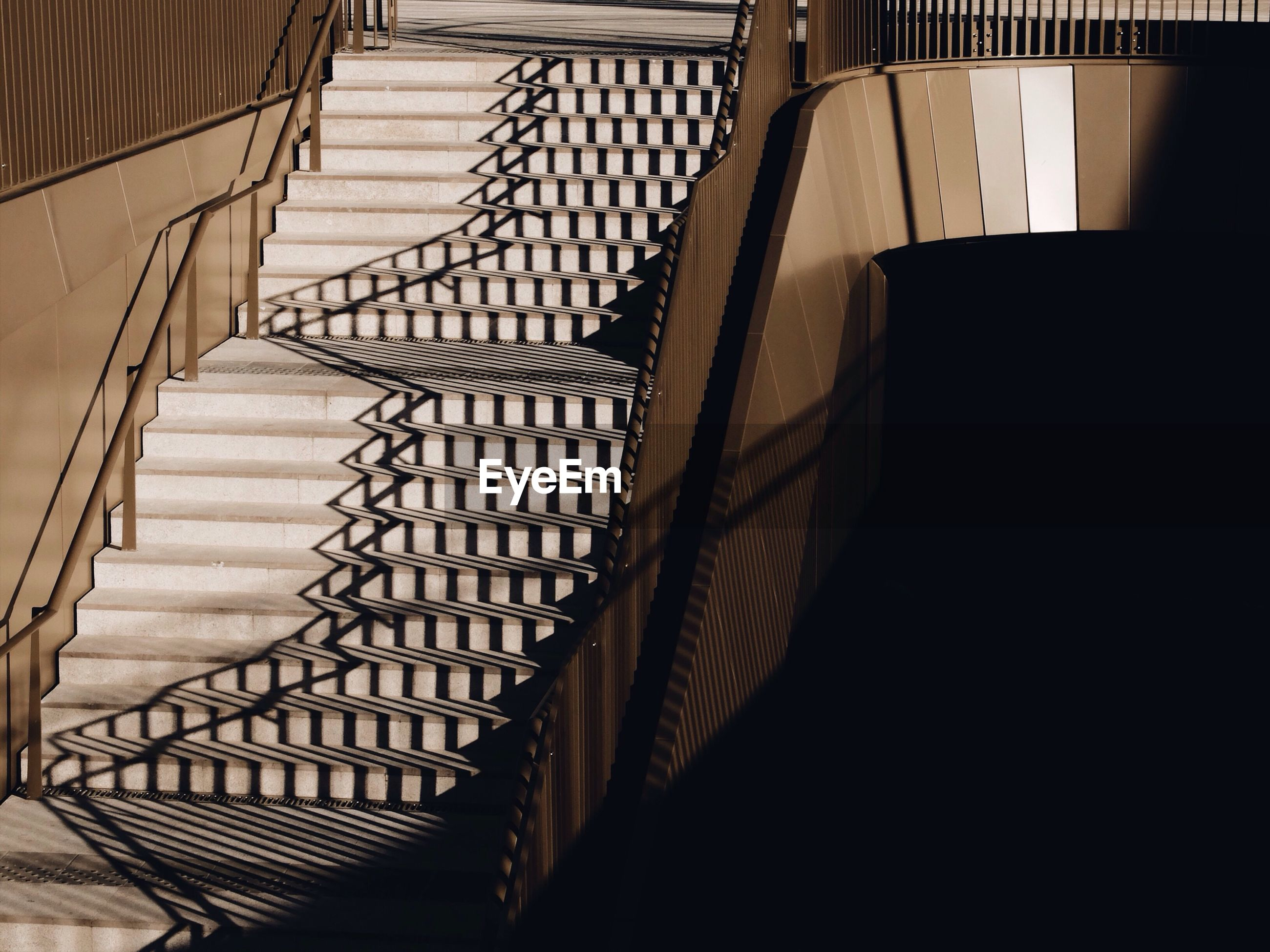 Reflections on staircase