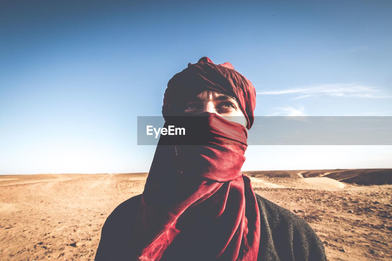 Portrait Of Person In Desert