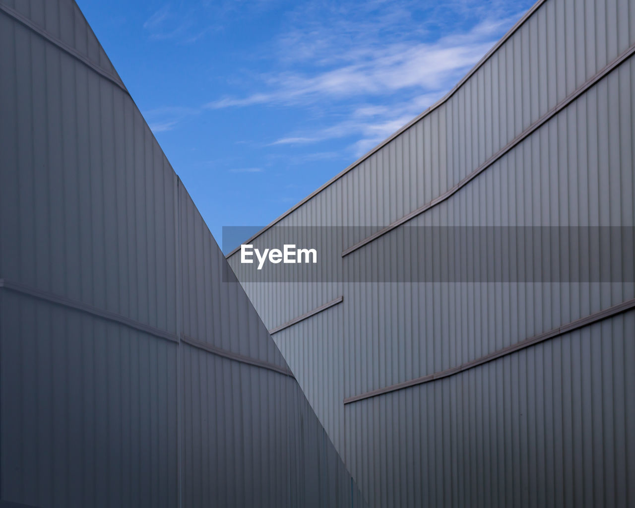 Low angle view of modern building against sky. abstract architecture background.