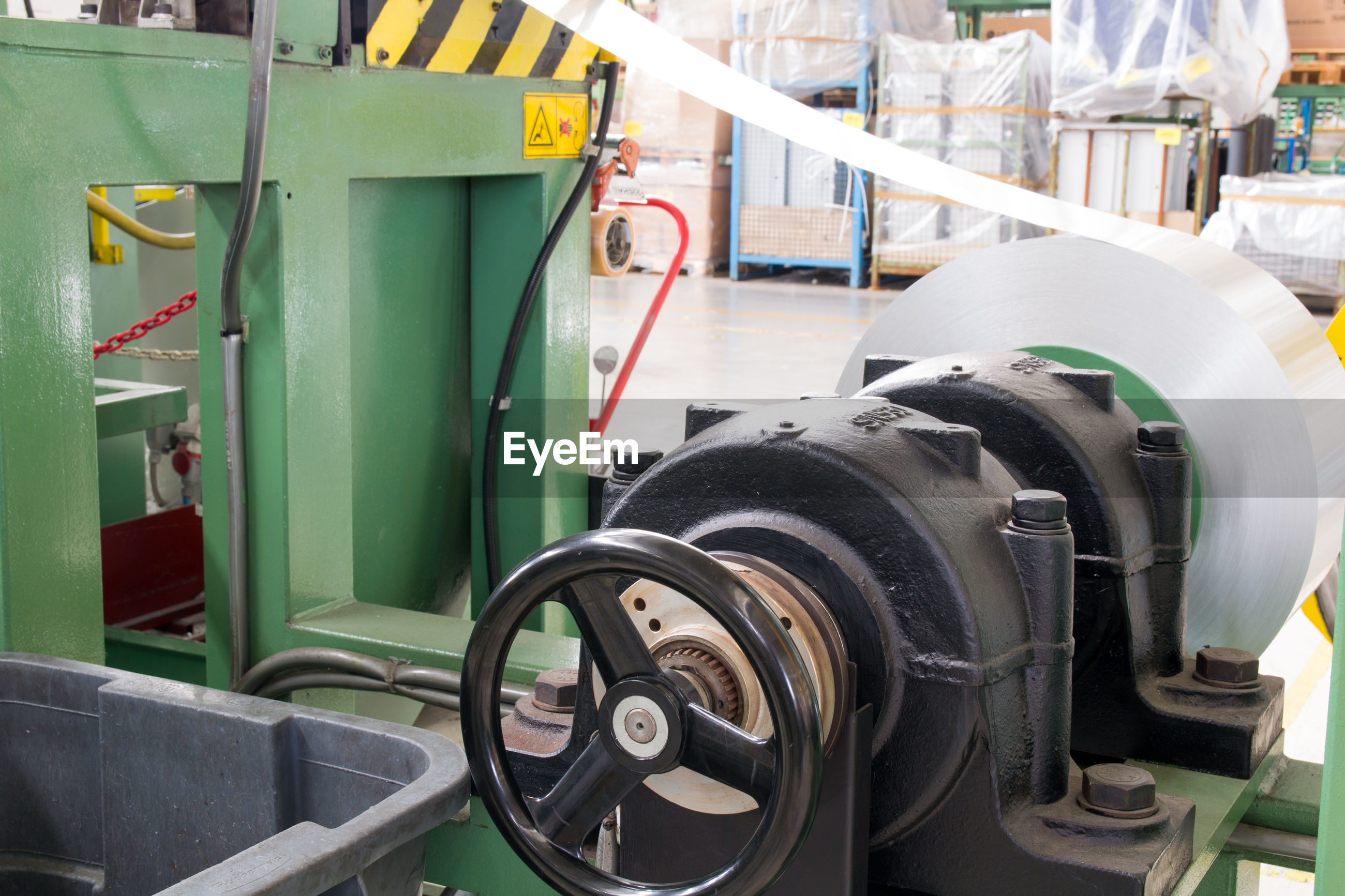 Machinery at factory