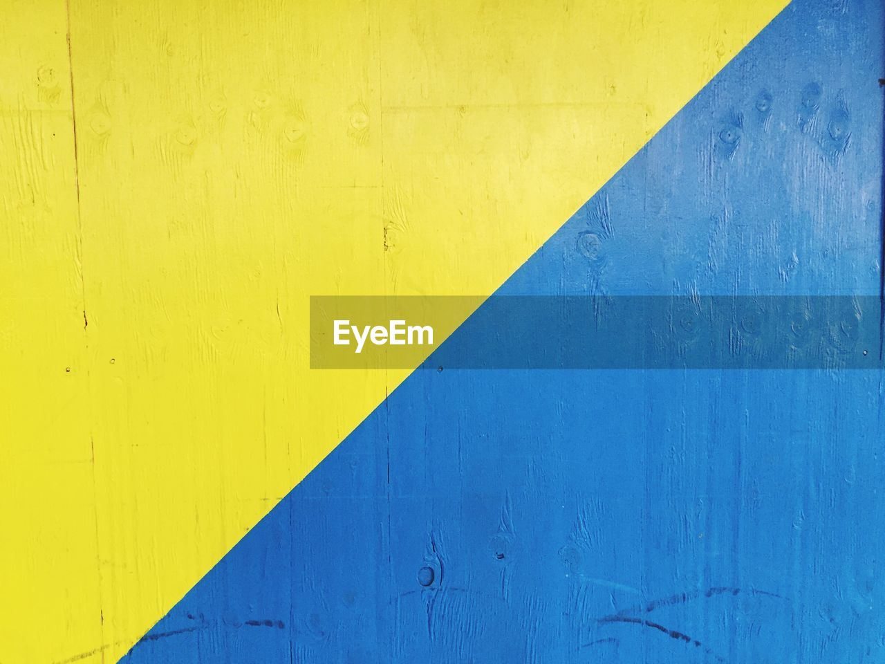 yellow, blue, metal, day, close-up, no people, backgrounds, paint, architecture, outdoors, built structure, textured