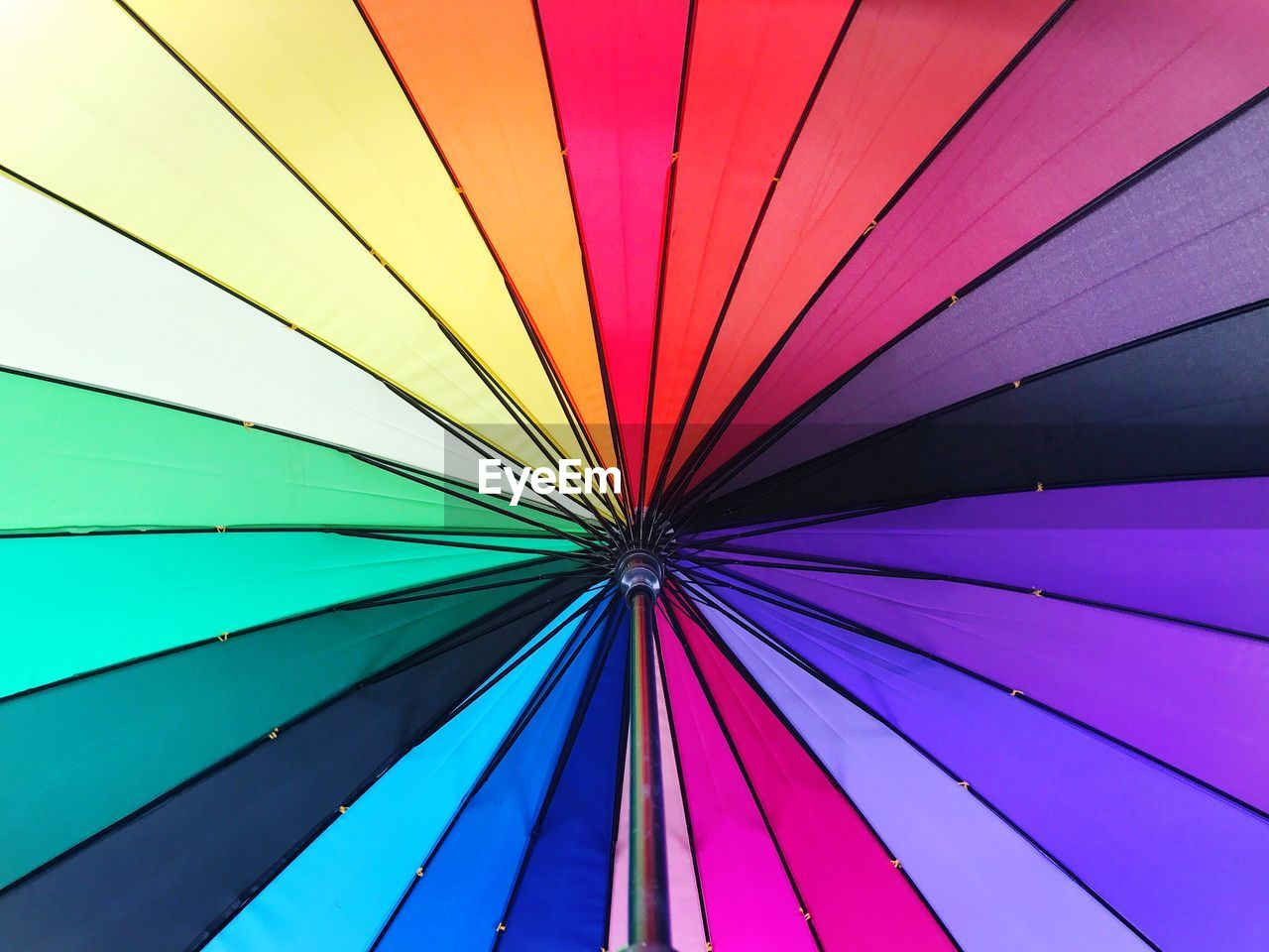 Low Angle View Of Colorful Umbrella