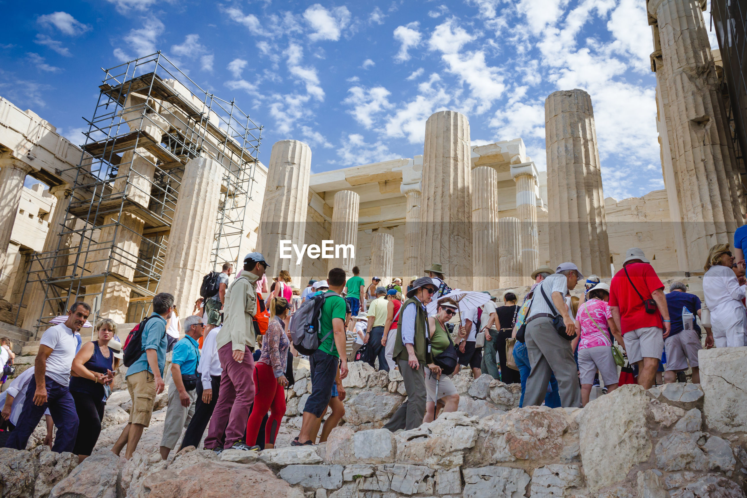 People at parthenon