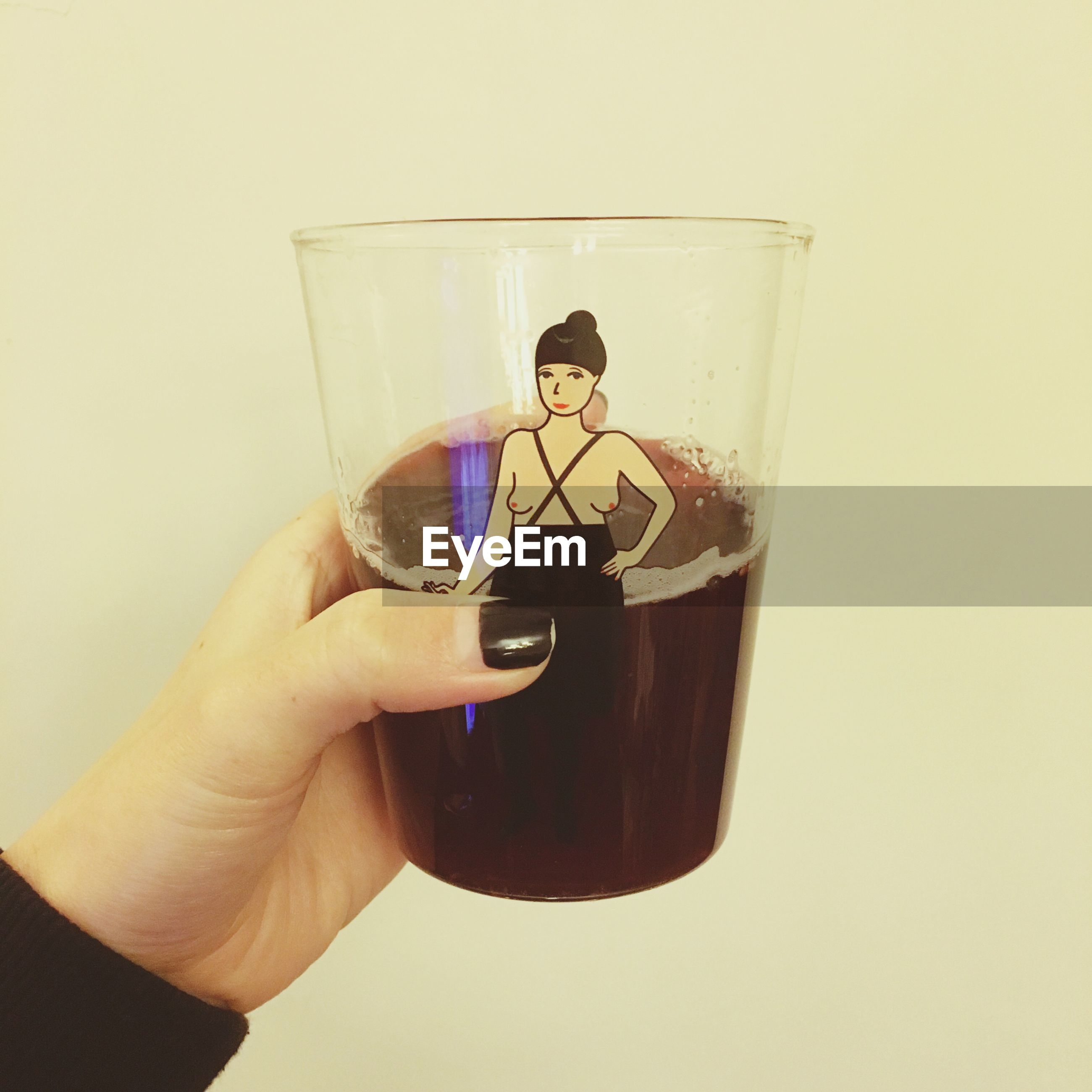 person, holding, indoors, part of, cropped, lifestyles, human finger, unrecognizable person, copy space, leisure activity, close-up, glass - material, technology, reflection, drink, men, white background
