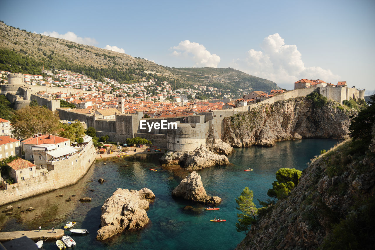 A overview of old-town / old city of dubrovnik