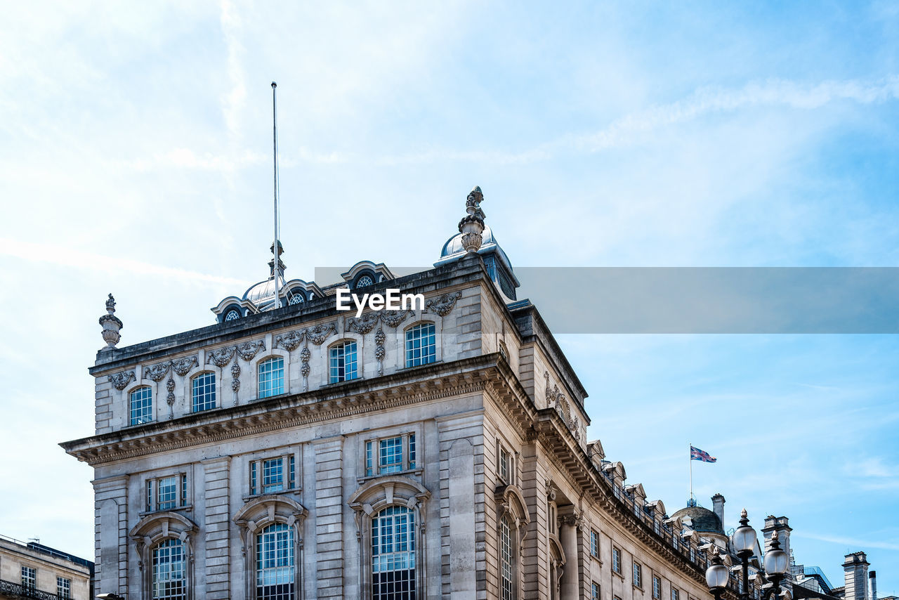 Low angle view of old buildings in regent street in london