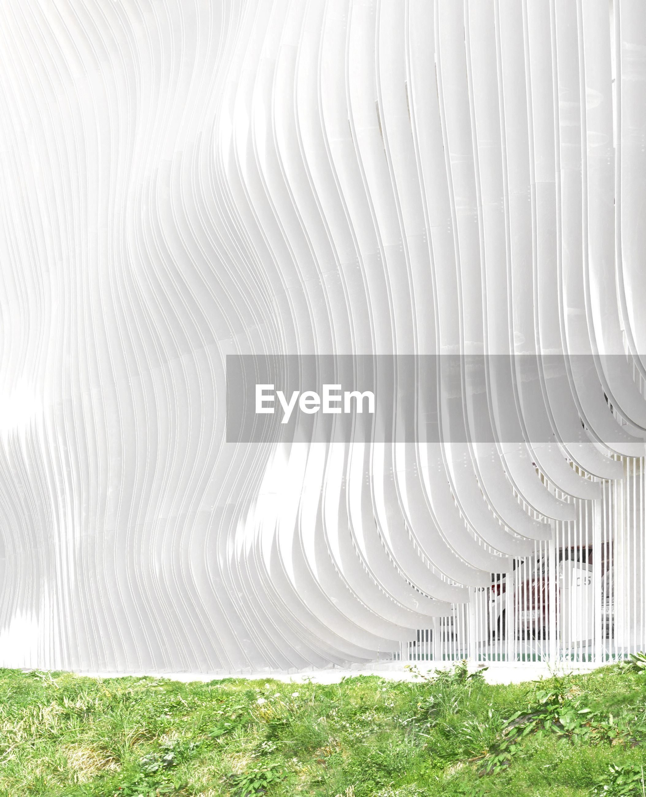 curve, pipe - tube, no people, futuristic, grass, day, outdoors