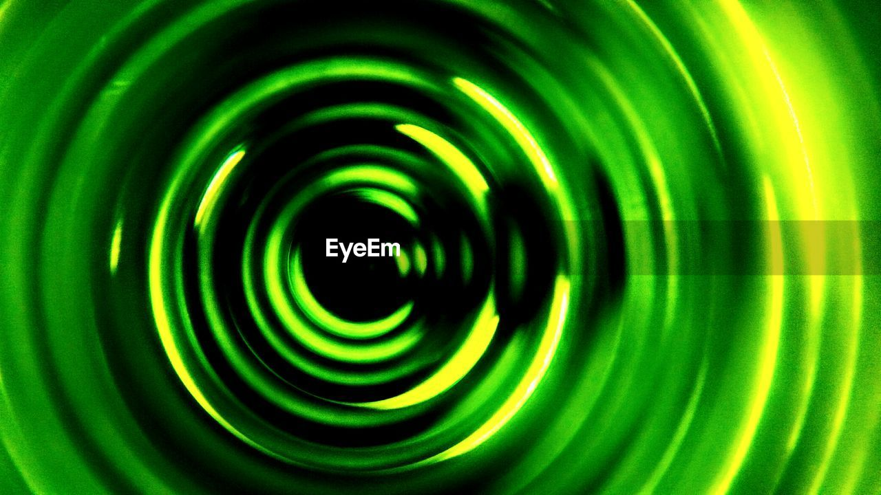 green color, full frame, pattern, circle, backgrounds, abstract, concentric, close-up, no people, night, indoors, nature