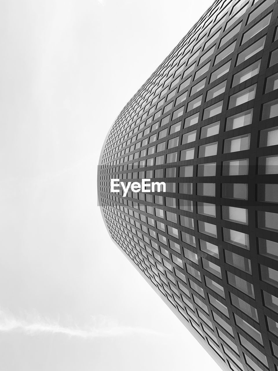 sky, built structure, low angle view, building exterior, architecture, modern, tall - high, office building exterior, no people, day, cloud - sky, pattern, building, nature, office, skyscraper, city, glass - material, outdoors, tower, directly below